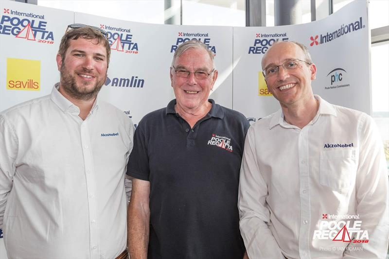 Martin Pearson with the sponsors at the International Paint Poole Regatta 2018 - photo © Ian Roman / International Paint Poole Regatta