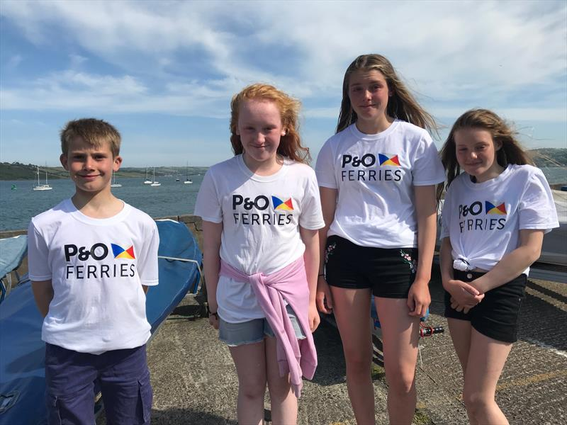 junior sailors sporting their P&O Ferries t-shirts during the Larne Lough Weekend - photo © Lucy Whitford