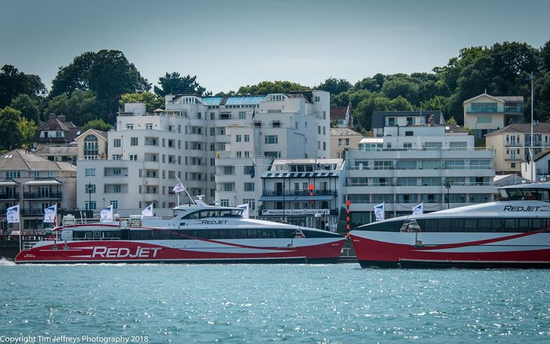 Day 2 of Cowes Classics Week was sponsored by Red Funnel - photo © Tim Jeffreys Photography