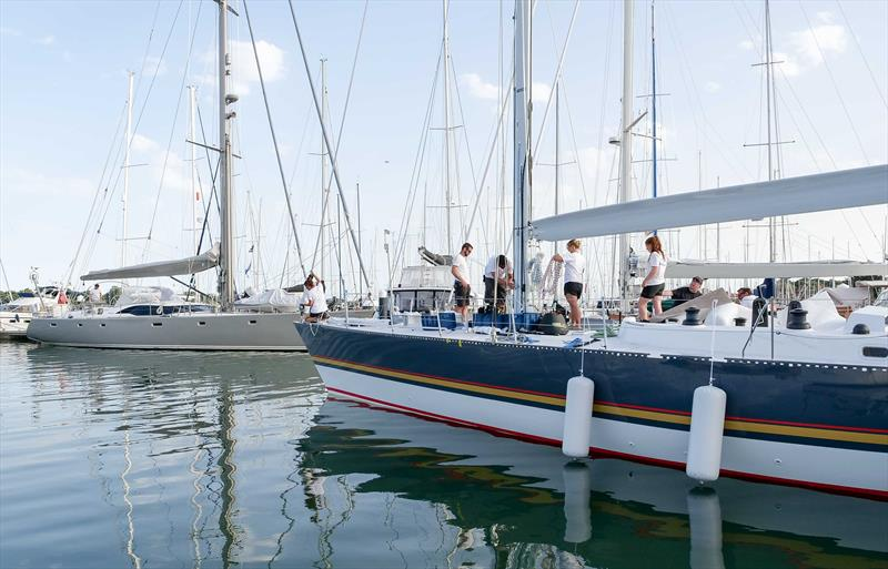 Maiden is relaunched following her restoration in Hamble - photo © Kaia Bint Savage