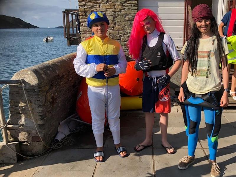 Fancy Dress Friday Pursuit Race during the Salcombe Town Regatta photo copyright Jayne Morris taken at Salcombe Yacht Club