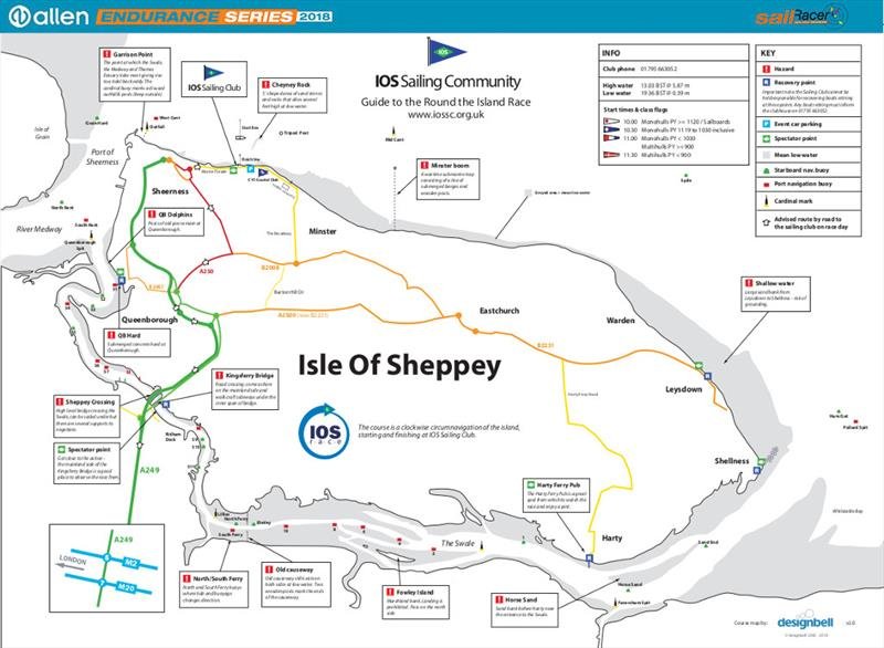 Round Sheppey Race course map - photo © Allen Endurance Series