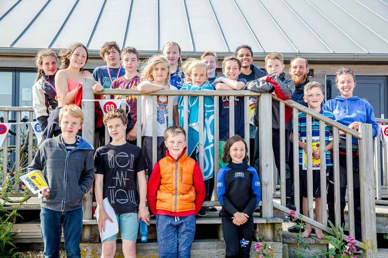 Young sailors enjoy the Buzz in the Bay photo copyright Emily Whiting taken at Pevensey Bay Sailing Club