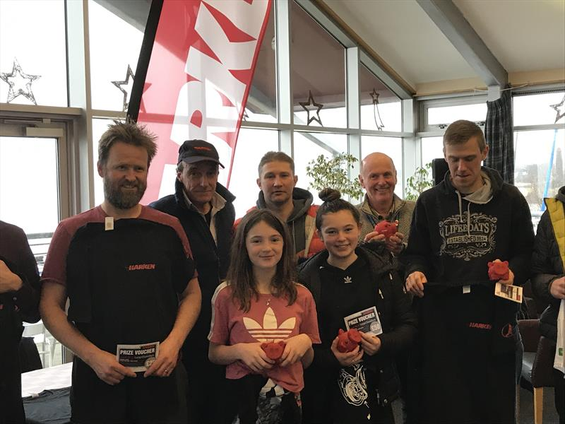 Prize winners in the Harken Winter Series at Largs - photo © Martin Latimer