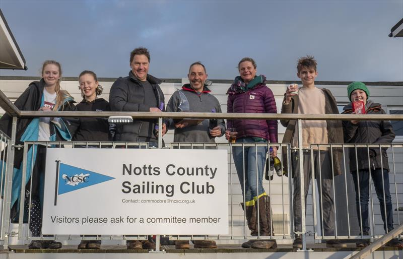 Prize winners in the Notts County Cooler 2019 photo copyright David Eberlin taken at Notts County Sailing Club