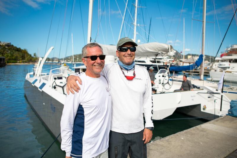 Fujin owner, Greg Slyngstad and navigator Peter Isler after finishing the RORC Caribbean 600 - photo © Arthur Daniel / RORC