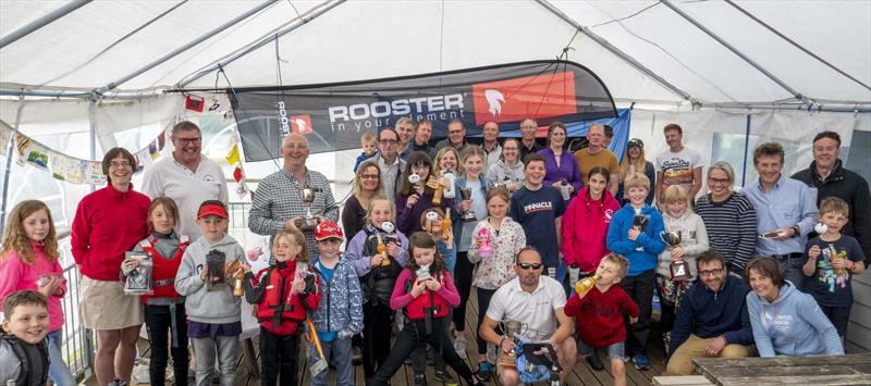 Prizewinners thanks to sponsors at the Notts County Spring Regatta - photo © David Eberlin