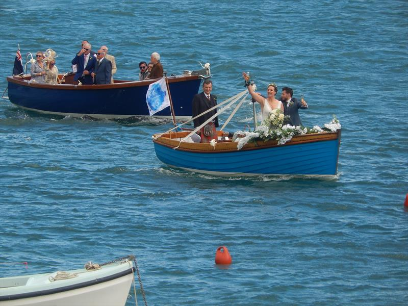 Pre-race wedding launch flotilla ahead of Salcombe Yacht Club Summer Series Race 1 photo copyright Malcolm Mackley taken at Salcombe Yacht Club