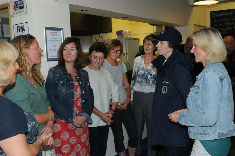 HRH The Princess Royal introduced to the Draycote Water Sailing Club Women on Water group by Caroline Noel (right) - photo © Malcolm Lewin