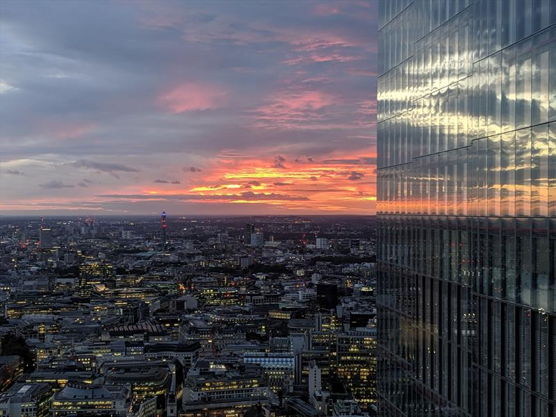 The view from the 45th floor of the Leadenhall Building, MS Amlin's headquarters - photo © Yachting Journalists' Association