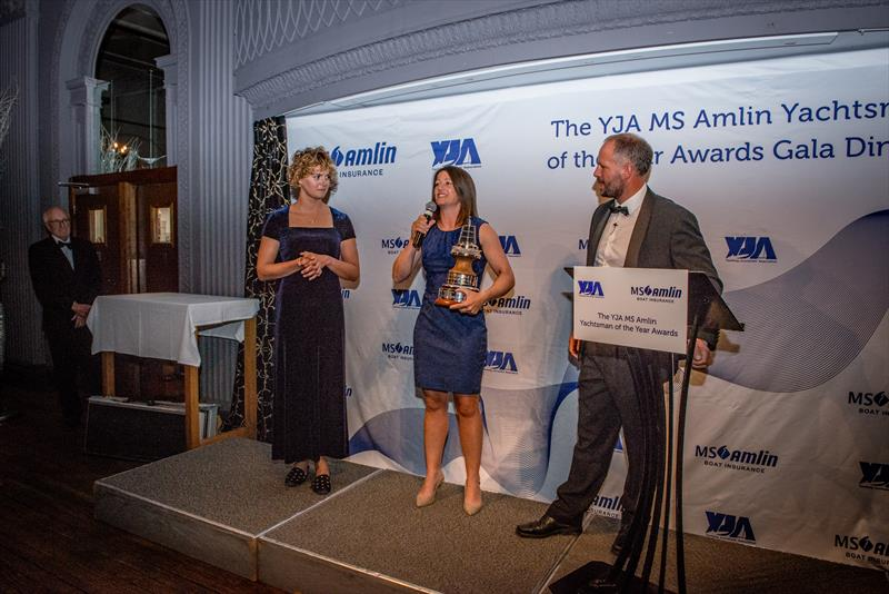 Lucy MacGregor is awarded the YJA MS Amlin Yachtsman of the Year at the YJA MS Amlin Awards Gala Dinner - photo © Sally Golden
