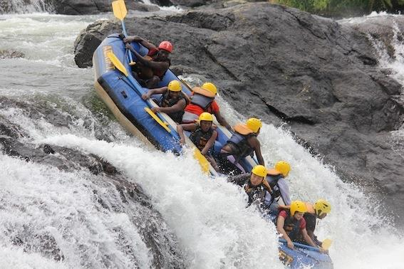 Rafting on the Grade 5 Nile rapids - photo © Adrift
