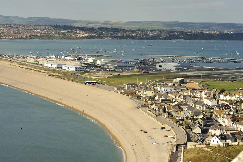 Aerial view of WPNSA - photo © VisitEngland / Weymouth and Portland Borough Council / John Snelling