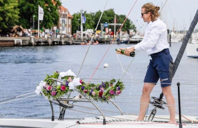Annie Lush sailing on Einstein at Kiel Week 2019