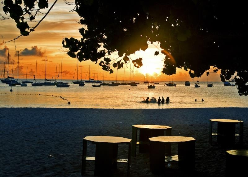 A classic evening sunset scene from host clubhouse, Barbados Cruising Club photo copyright Peter Marshall / BSW taken at Barbados Cruising Club
