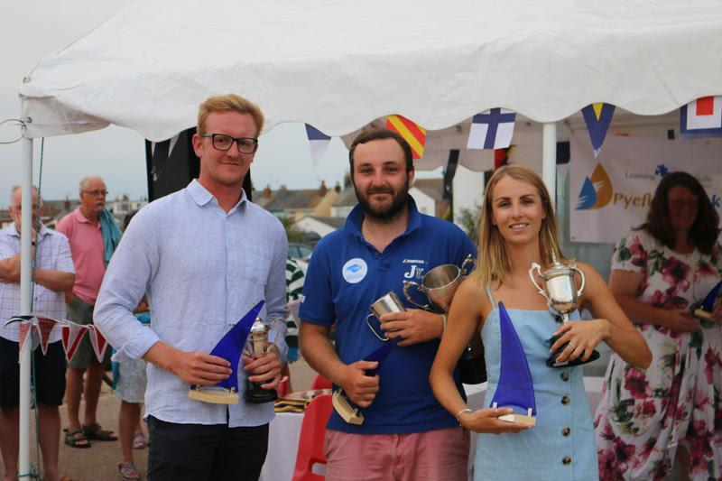 Brightlingsea One Design winners Ed Gibbons, Chris Matthews and Millie Newman - photo © James Stacey