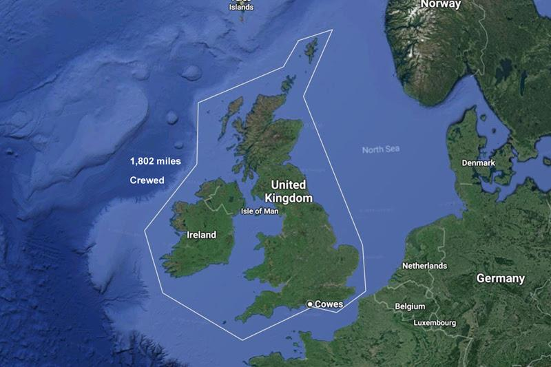 Sevenstar Round Britain and Ireland race route - photo © Phil Sharp Racing