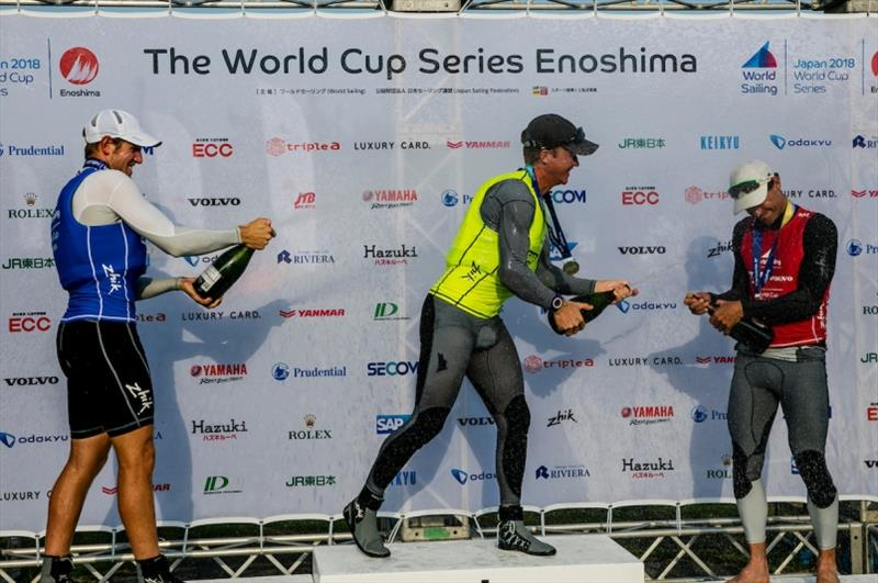 Elliot Hanson (GBR), Matthew Wearn (AUS) and Sam Meech (NZL) - photo © Jesus Renedo / Sailing Energy / World Sailing