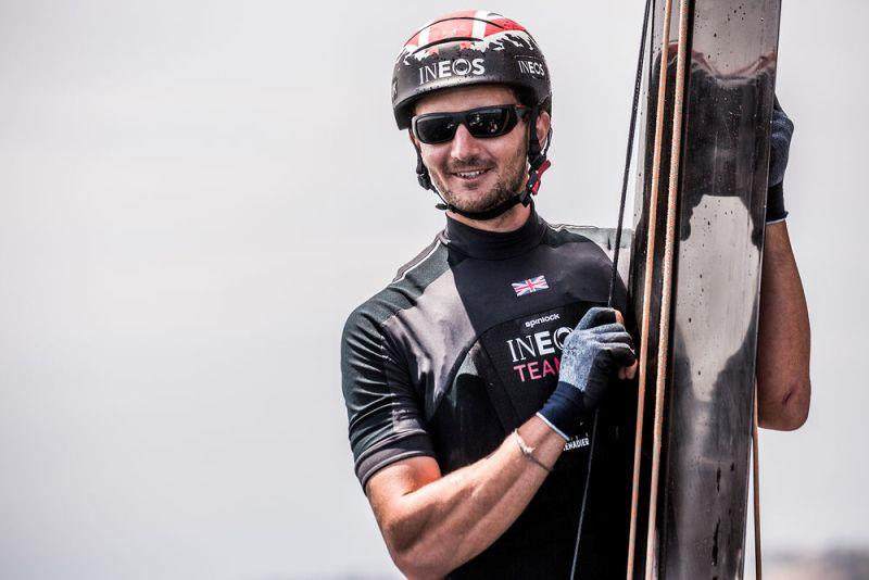 Fellow British Olympic gold medallist, Giles Scott, puts in a cameo performance in Mexico onboard INEOS Rebels UK, joining Ben Ainslie and America's Cup star Joey Newton onboard - Extreme Sailing Series Los Cabos 2018 - photo © Harry KH / INEOS Team UK