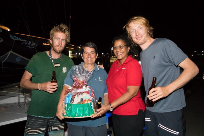 Receiving a warm welcome from the Grenada Tourism Authority after completing the 2018 RORC Transatlantic Race - photo © RORC / Arthur Daniel