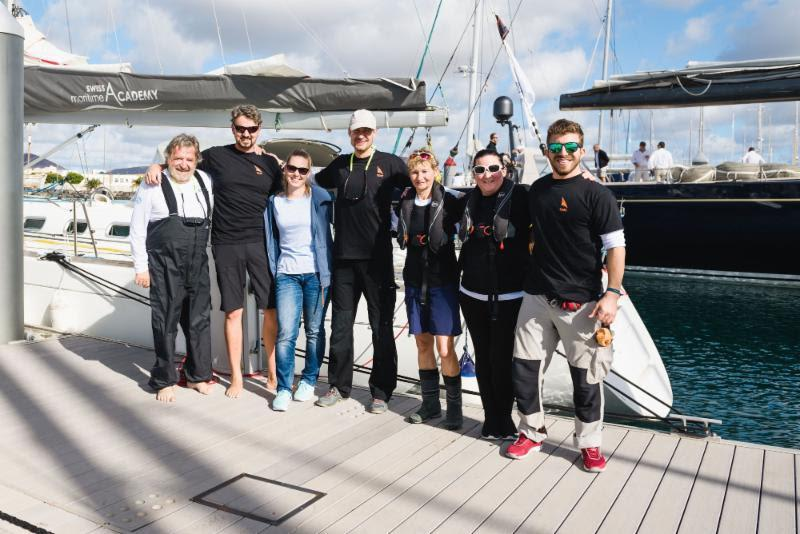 On the dock in Lanzarote; Team Kali from the Swiss Maritime Academy - 2018 RORC Transatlantic Race - photo © RORC