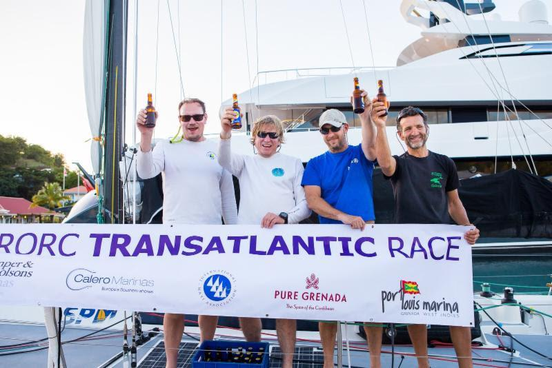 Stephane Bry's Sirius completed the podium for the Class40 Division, finishing in an elapsed time of 16 days 08 hrs 33 mins and 26 secs - 2018 RORC Transatlantic Race - photo © RORC / Arthur Daniel