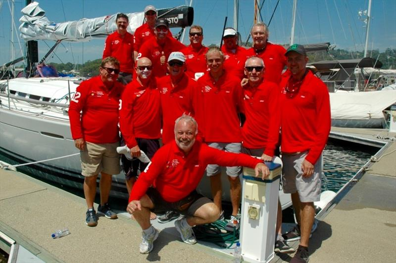 The Highly Sprung crew at Southport Yacht Club - Pittwater to Paradise Race - photo © High Profile Media