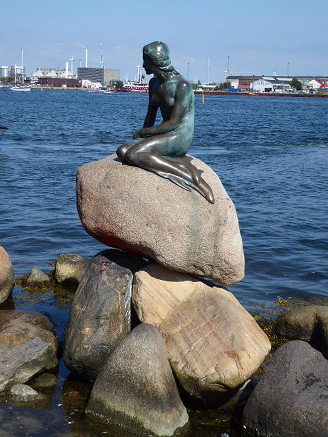 A world-famous harbour sculpture, Copenhagen's Little Mermaid. - photo © Louisa Mamakou