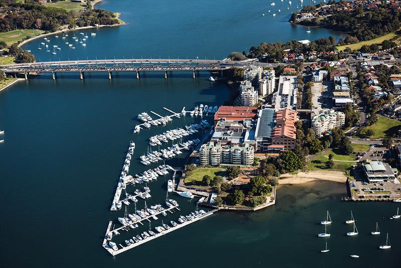 Aerial view of Birkenhead Point Marina - photo © Frank Quealey