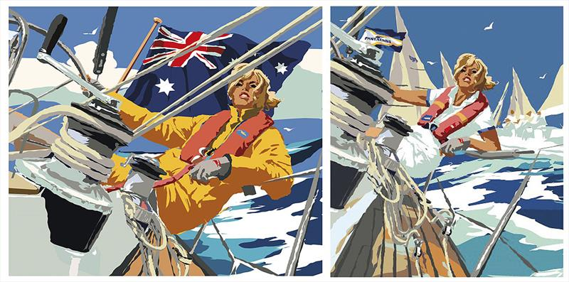The original version of the image adapted to become the 2018 Sail Port Stephens image on the right. - photo © Pantaenius