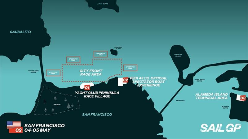 San Francisco SailGP race course. - photo © SailGP