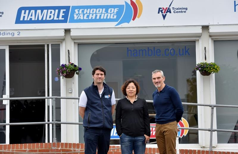 Madam Zhang toured one of the RYA's leading sailing schools in the UK, the Hamble School of Yachting - photo © Clipper Race