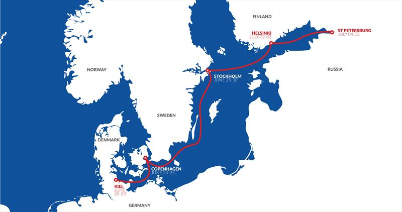 Nord Stream Race route for 2019 - photo © NSR
