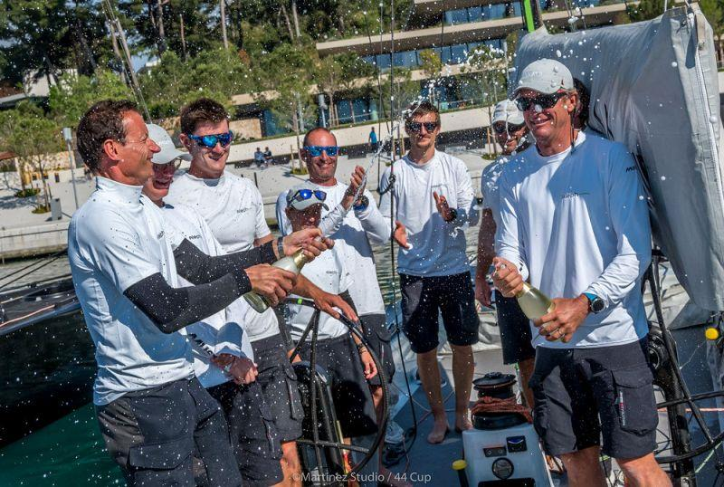 Celebrations this afternoon for Hugues Lepic, Michele Ivaldi (right) and the Aleph Racing crew - Adris 44Cup Rovinj, Day 3 - photo © MartinezStudio.es