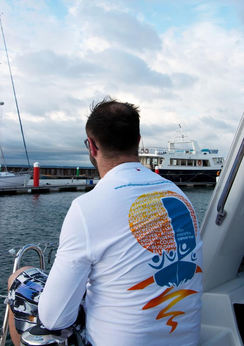 T shirt on crew member - photo © Ellen MacArthur Cancer Trust