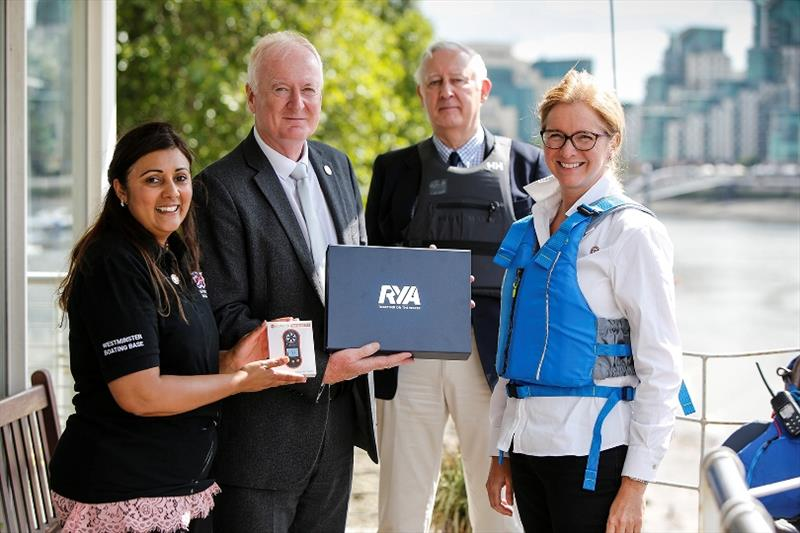 From left: Nusrat Ghani MP, RYA Director of External Affairs Howard Pridding, Westminster Boating Base director Rod Craig, RYA Chief Executive Sarah Treseder - photo © Paul Wyeth / RYA