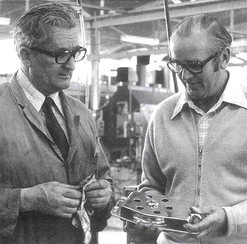 Stan LeNepveu on the left and Ron Allatt on the right, the Founders of the brand all sailors know, Ronstan. - photo © Ronstan