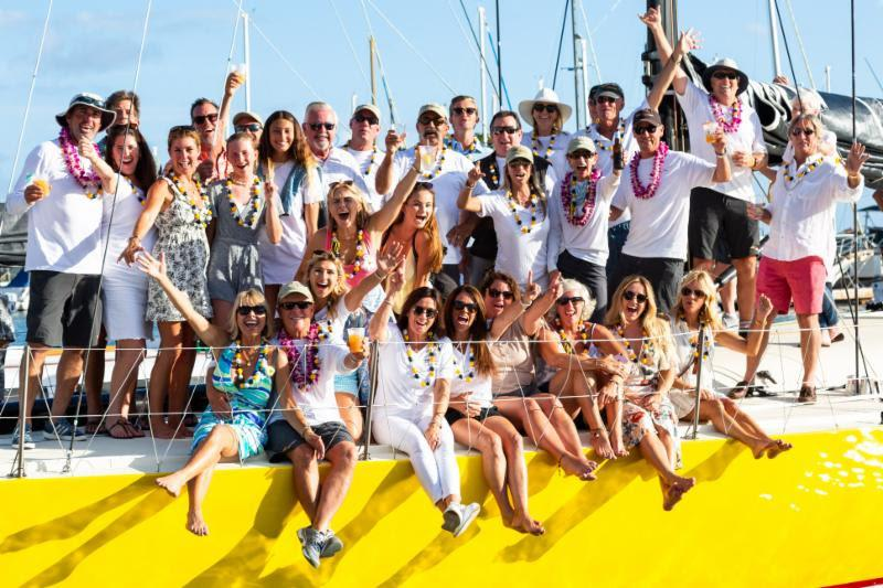 A vibrant Aloha party on board Taxi Dancer - Transpac 50 - photo © Emma Deardorf / Ultimate Sailing