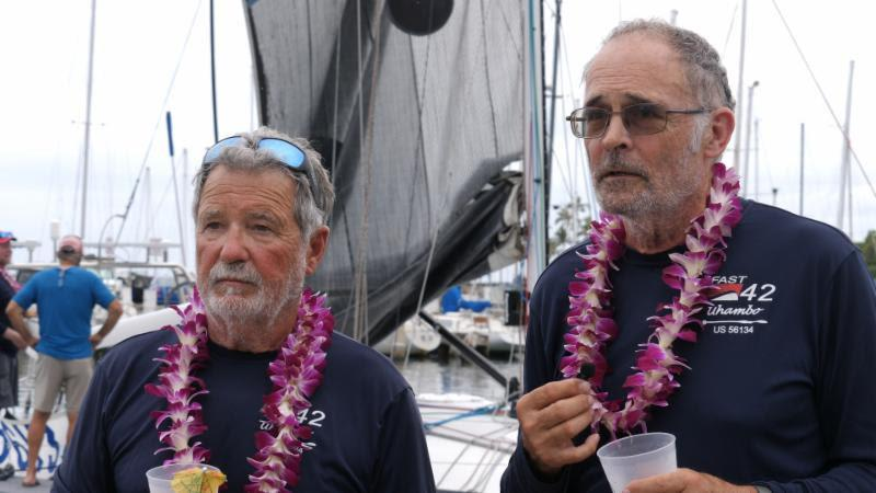 Carlos Brea (left) and David Chase (right) tell their tale to the press - Transpac 50 - photo © Chris Love Productions