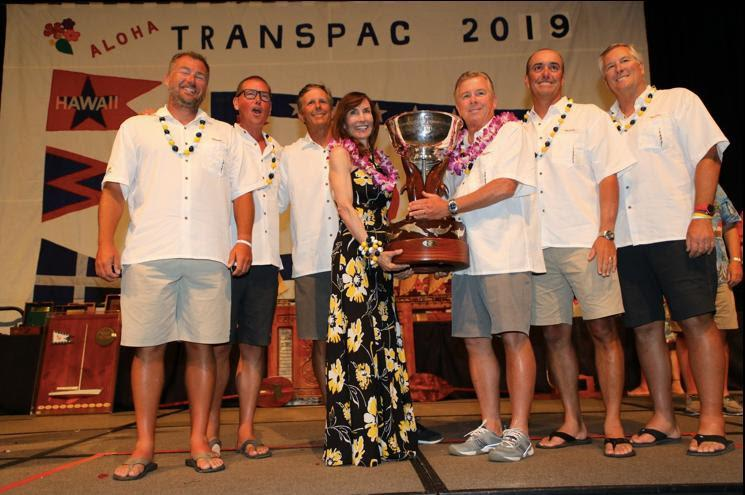 Crew of Taxi Dancer, winners of Division 2 - Transpac 50 - photo © David Livingston