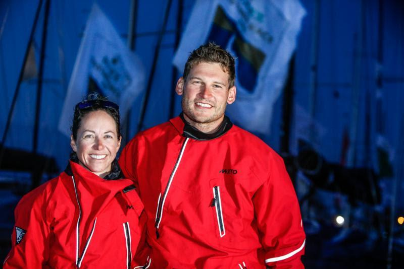 Hannah Diamond and Henry Bomby dockside after completing the Sun Fast 3300 Fastrak XII - 2019 Rolex Fastnet Race - photo © Paul Wyeth / www.pwpictures.com