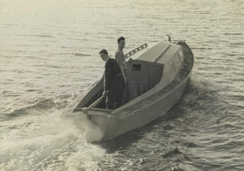 Ron Allatt and Stan LeNepveu in one of their early boats - photo © Ronstan