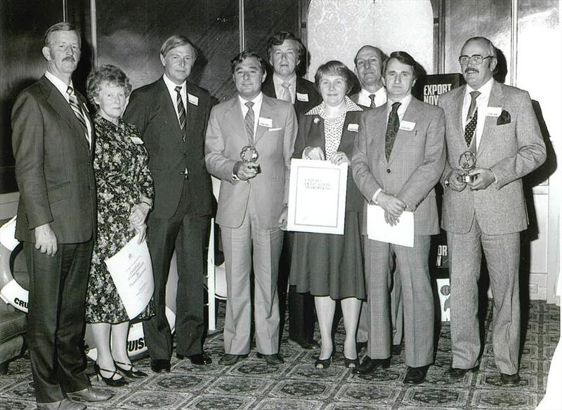 Ron Allatt (Far Right) at the Victorian Export Awards back in the day. - photo © Ronstan