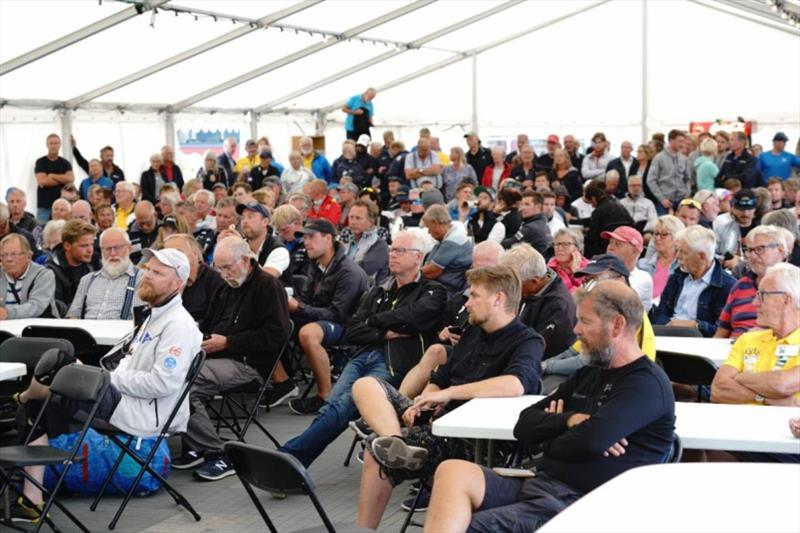 Full attention at the Skipper's Briefing - SSAB ORC European Championship 2019 - photo © MarcS
