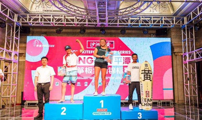 Podium - 2019 IKA KiteFoil World Series, Act 3 Pingtan - photo © IKA / Alex Schwarz