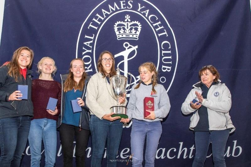 Winners - Inaugural Women's J70 Open Championship photo copyright Sportography taken at Royal Thames Yacht Club