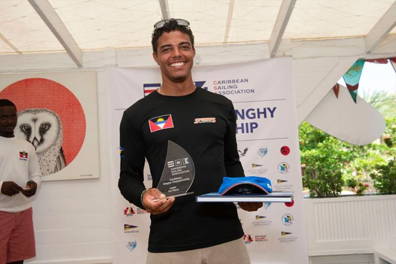 Jules Mitchell, winner of the Laser Standard class - 2019 Caribbean Dinghy Championships - photo © Ted Martin / Antigua Photography