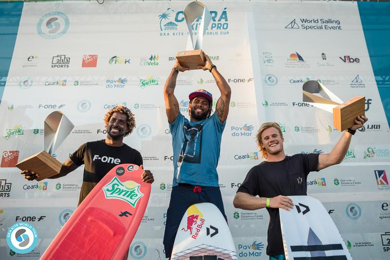 Men's final season podium - GKA Kite-Surf World Cup Prea photo copyright Svetlana Romantsova taken at