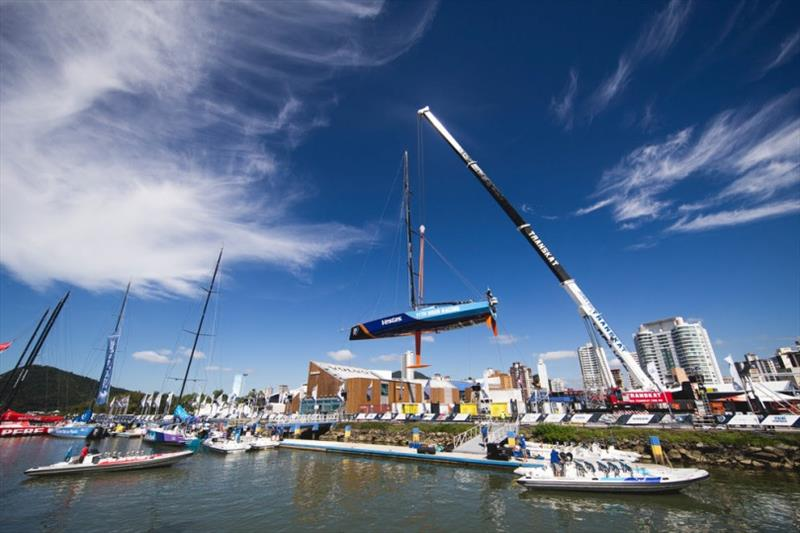 GAC Pindar provided urgent yacht and mast transport solutions for four teams during the previous two editions of The Ocean Race. Vestas 11th Hour Racing received a new mast in Itajai, allowing them to complete the 2017-18 edition. - photo © Pedro Martinez / Volvo AB