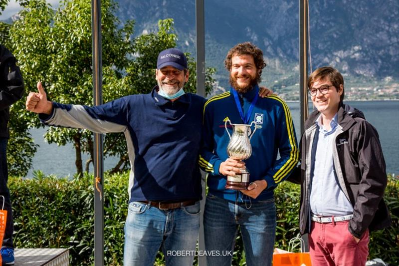 Matteo Iovenitti with Nicola and Pietro Menoni - International Finn Cup XVII Andrea Menoni Trophy - photo © Robert Deaves